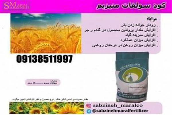 فروش کود سولفات منیزیم - استان اصفهان